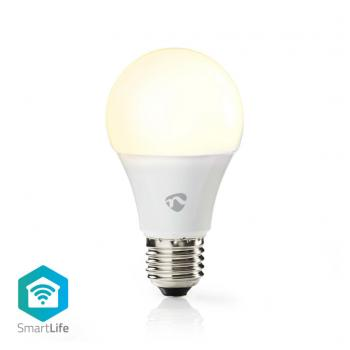 Nedis WIFILW12WTE27 Smartlife Led Bulb Wi-fi E27 800 Lm 9 W Warm Wit 2700 K Energieklasse: A+ Android™ & Ios Diameter: 60 Mm A60